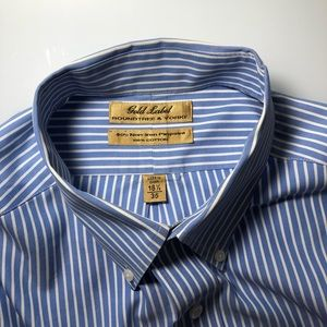 Gold label roundtree & yorke button up 16.5/35 men